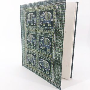 Elephants Embroidered & Beaded Blank Journal